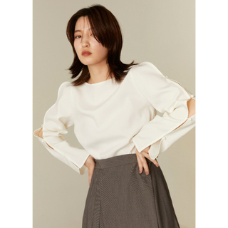 snidel - by ensure   open sleeve blouse