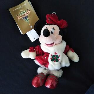 ディズニー(Disney)のTDS2010年クリスマスウィッシュ ミニーぬいぐるみバッジTDLTDR(ぬいぐるみ)