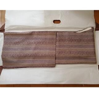 小紋袷 薄い紫色系 正絹(着物)
