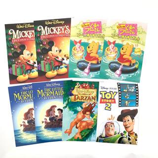ディズニー(Disney)の【送料込み】ディズニー ハガキ 8枚 キャラクター(使用済み切手/官製はがき)