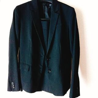 ユニクロ(UNIQLO)のユニクロ ブラック スーツ上下セット レディース(スーツ)