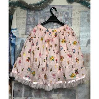 エミリーテンプルキュート(Emily Temple cute)のemily temple cute スカートいろいろ柄のピンク(ひざ丈スカート)