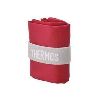 サーモス(THERMOS)のサーモス ポケットバッグ 10L レッド エコバッグ コンビニ弁当袋サイズ(エコバッグ)