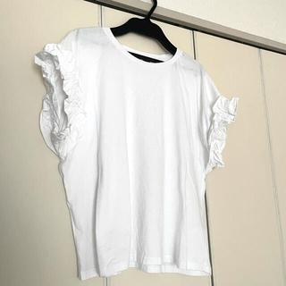 ZARA - ZARA フリル付 Tシャツ M