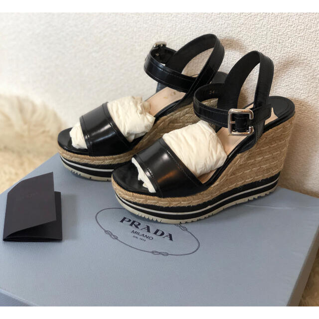 PRADA(プラダ)のprada サンダル ウェッジサンダル ジュート レディースの靴/シューズ(サンダル)の商品写真