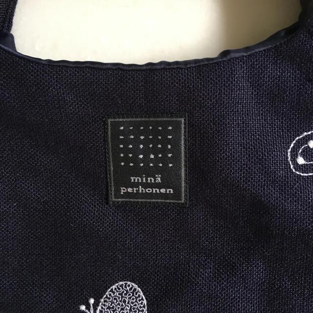 mina perhonen(ミナペルホネン)の未使用 ミナペルホネン ちょうちょ choucho 刺繍 エッグバッグ レディースのバッグ(トートバッグ)の商品写真