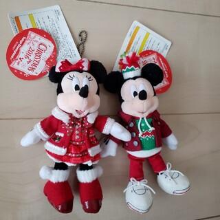 ディズニー(Disney)のぬいぐるみバッチ ミッキー&ミニー(キャラクターグッズ)