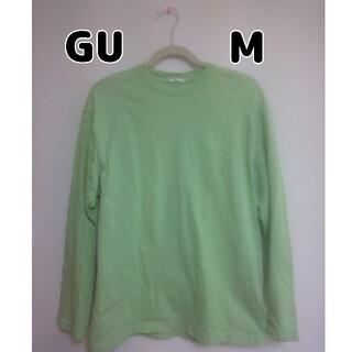 ジーユー(GU)のGU ジーユー BIGロンT グリーン M(Tシャツ(長袖/七分))