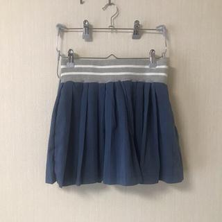 シマムラ(しまむら)のプリーツスカート ミニ 青(ミニスカート)