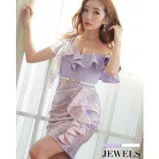 JEWELS - Jewels ☆ドレス ☆ ラベンダー ☆ Lサイズ ☆ワンショル