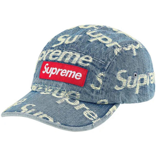 Supreme - Supreme Frayed Logos Denim Camp Cap