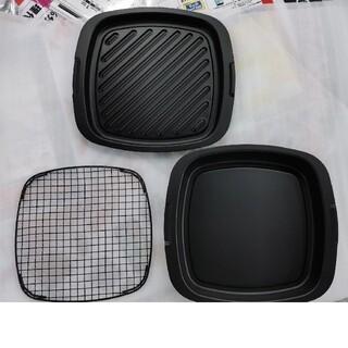 エーアイシー(A・I・C)の新品アラジングラファイトトースターAGT-G13A用角形グリルパン3枚セット(調理機器)