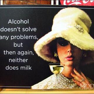 アメリカンブリキ看板 アルコールによる問題解決(パネル)