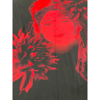 Yohji Yamamoto - yohjiyamamoto 19ss アシメ襟女プリントシャツ+ノベルティ