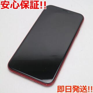 アイフォーン(iPhone)の美品 SIMフリー iPhoneXR 64GB レッド RED 白ロム (スマートフォン本体)