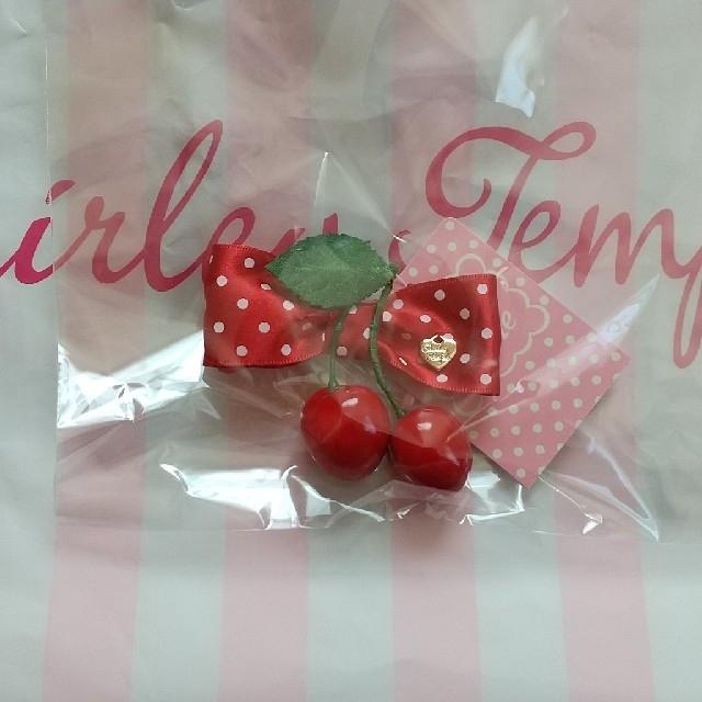 Shirley Temple(シャーリーテンプル)の新品未使用シャーリーテンプルドットリボンチェリークリップ キッズ/ベビー/マタニティのこども用ファッション小物(その他)の商品写真