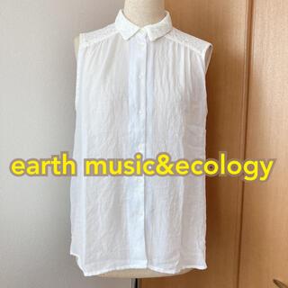 アースミュージックアンドエコロジー(earth music & ecology)のノースリーブ earth music&ecology ブラウス tp0167(シャツ/ブラウス(半袖/袖なし))