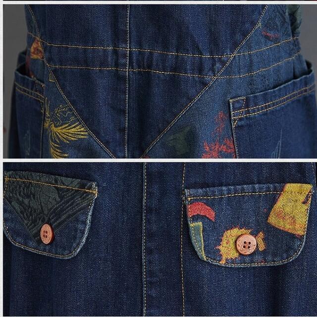 大きいサイズ レディース サロペットパンツ オーバーオール デニム レディースのパンツ(サロペット/オーバーオール)の商品写真