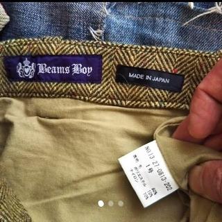 ビームスボーイ(BEAMS BOY)の美品 BEAMS BOY ビームスボーイ ヘリンボーン ウール スカート(ひざ丈スカート)