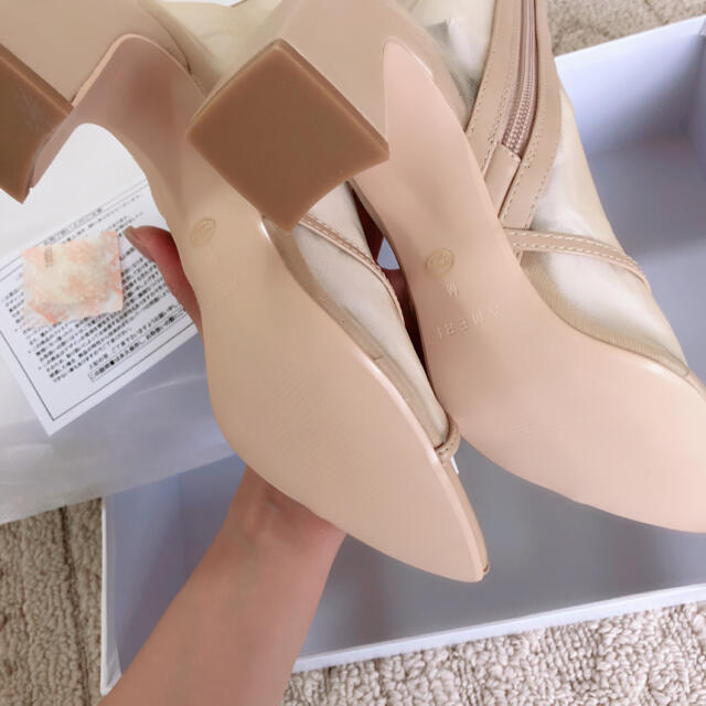 Ameri VINTAGE(アメリヴィンテージ)のAmeri VINTAGE SANDAL LIKE BOOTS Mサイズ beg レディースの靴/シューズ(ブーツ)の商品写真