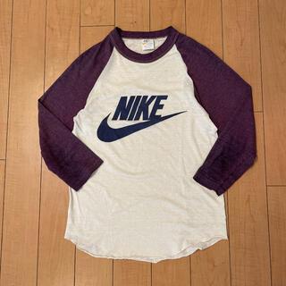 ナイキ(NIKE)の超希少 70s ビンテージ USA製 NIKE オレンジスウォッシュ Tシャツ(Tシャツ/カットソー(七分/長袖))
