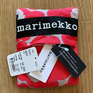 marimekko - 〔新品タグ付き〕マリメッコ エコバッグ 赤 ウニッコ柄 レッド〔送料込み〕