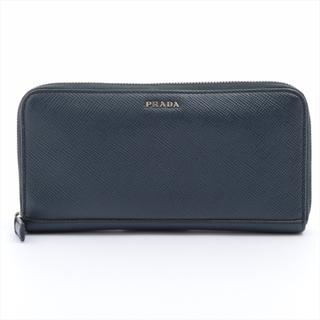 プラダ(PRADA)のプラダ  レザー  ネイビー メンズ 長財布(長財布)