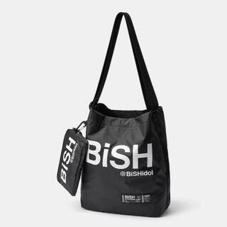 ジーユー(GU)の新品★BiSH×GU 限定コラボ トートバッグ/ポーチ付き 黒(トートバッグ)