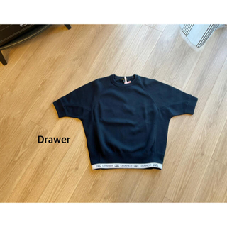 Drawer - Drawer ロゴショートスリーブニット