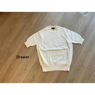 Drawer - Drawer ビーズエンブレム半袖ニット