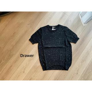 Drawer - Drawer スパンコールショートスリーブニット