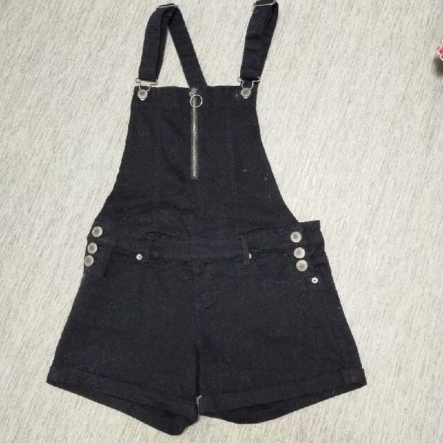 オーバーオールサロペット黒色 レディースのパンツ(サロペット/オーバーオール)の商品写真