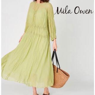 Mila Owen - 【Mila Owen】 新品未使用 タグ付きワッシャープリーツマキシ ワンピース