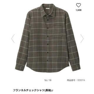 GU - GU フランネルチェックシャツ