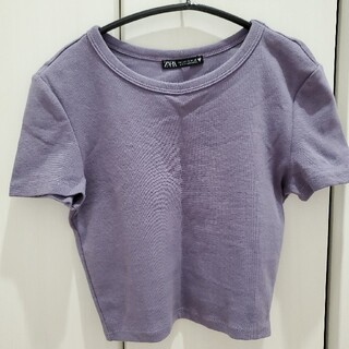 ザラ(ZARA)のZARA クロップド シャツ Tシャツ 半袖(Tシャツ(半袖/袖なし))