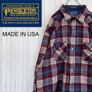ペンドルトン(PENDLETON)のペンドルトン USA製 ネルシャツ チェック スナップボタン ウエスタンシャツ(シャツ)