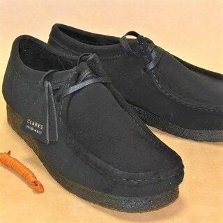 クラークス(Clarks)のクラークスワラビーロー黒 CLARKS WALLABEE-LO UK7.0 N(ブーツ)