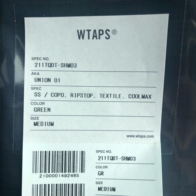 W)taps(ダブルタップス)のWTAPS UNION 01 SS COOLMAX® Mサイズ GREEN メンズのトップス(シャツ)の商品写真
