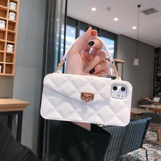 ホワイト 韓国 バック形 iphone11ケース スマホケース 大人気