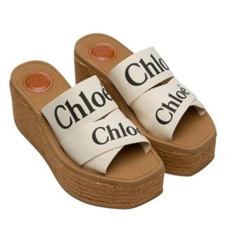 Chloe - 【Chloe】キャンバス WOODY ウェッジミュール クロエ