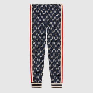 Gucci - 【10回着用・クリーニング済み】GGジャカード ジョギングパンツ XS