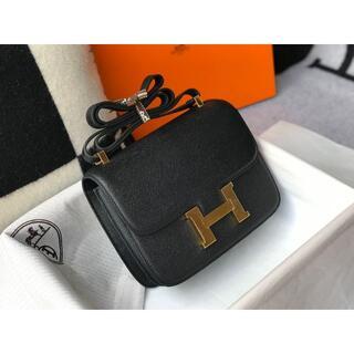 エルメス(Hermes)のエルメス コンスタンス ミニ エプソン ブラック(ショルダーバッグ)