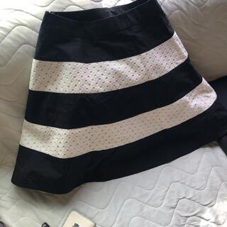 アナトリエ(anatelier)のアナトリエ、膝丈スカート、バイカラー異素材(ひざ丈スカート)