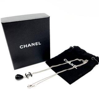 シャネル(CHANEL)の【超美品】シャネル ネックレス ラメココ ストーン 10A シルバー Q37(ネックレス)