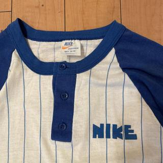 ナイキ(NIKE)の70s ビンテージ USA製 ナイキ ゴツナイキ オレンジスウォッシュ Tシャツ(Tシャツ/カットソー(七分/長袖))