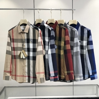 5色展開★メンズ チェックシャツ バーバリー