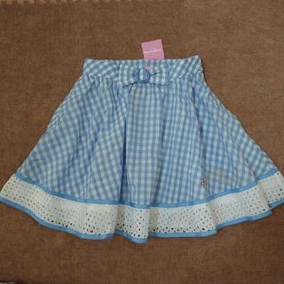 メゾピアノジュニア(mezzo piano junior)のmezzo piano junior 未使用 スカート M150 サックス(スカート)