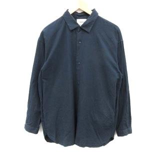 ヤエカ(YAECA)のヤエカ カジュアルシャツ コンフォート シルク混 S 紺(シャツ)