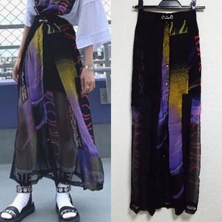 超美品 DIESEL スカート 透けシースルー ロングスカート 重ね