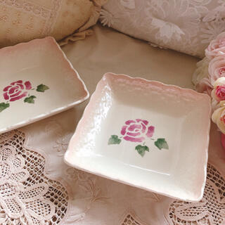 AfternoonTea - 新品♡マニー♡ローズ限定陶器プレート2枚セットお皿イマンローズバスケット薔薇